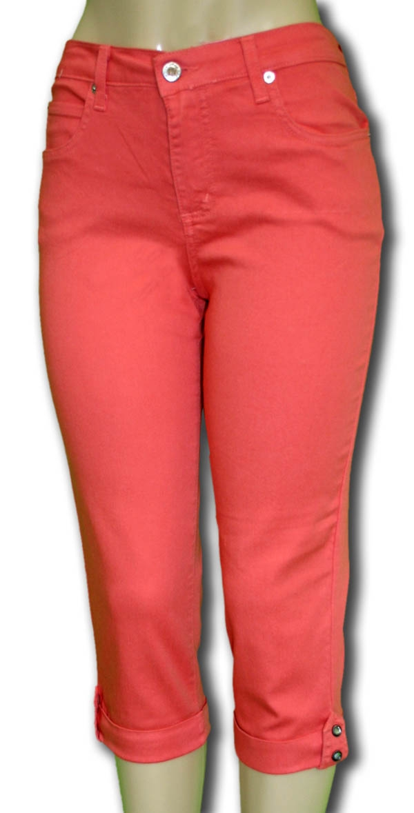 Home/Impulse California/Jeans / Capris. Coral Capri Jeggings - Coral Capri Jeggings - Sylvias Designers Touch