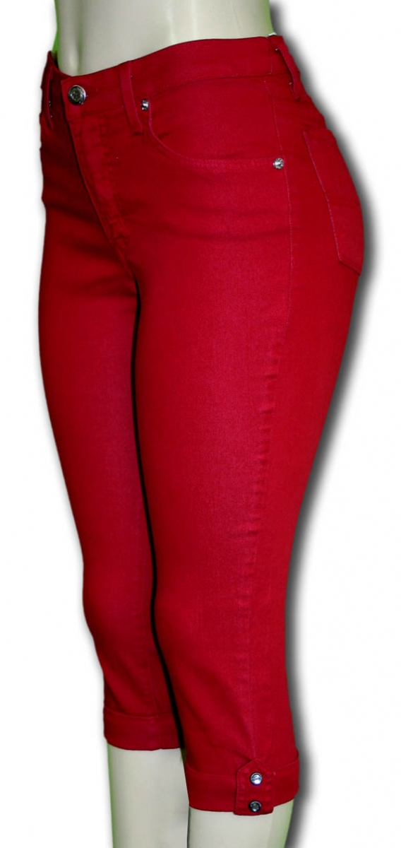 Red Capri Jeggings - Sylvias Designers Touch