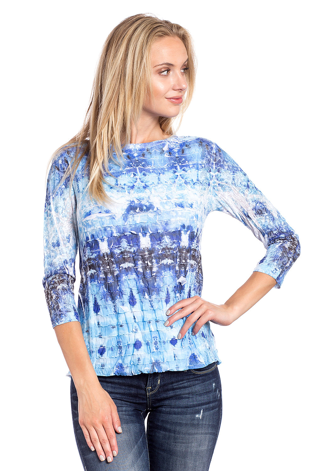 a55bcb1569f Home/Katina Marie/Burnout Cardigan, Tunics and Tops. PRINTED TOP RFT791-3  MULTI